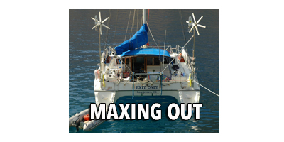 Maxingout - Team Exit Only sails around the world on their 39 foot catamaran